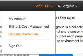 amazon security credentials
