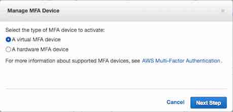 virtual mfa device amazon
